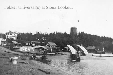 Fokker Universal at Sioux Lookout