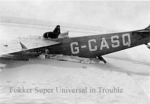Fokker Universal through the Ice